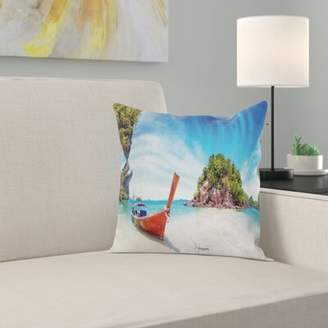 East Urban Home Exotic Beach Square Pillow Cover East Urban Home
