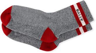 Bally Men's Trainspotting Logo Banded Tube Socks