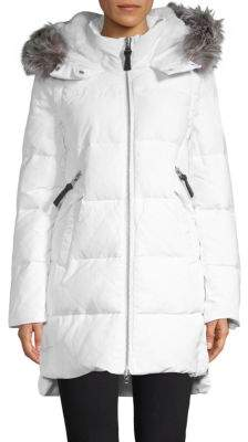 Derek Lam 10 Crosby Fox Fur-Trimmed Convertible Down Parka