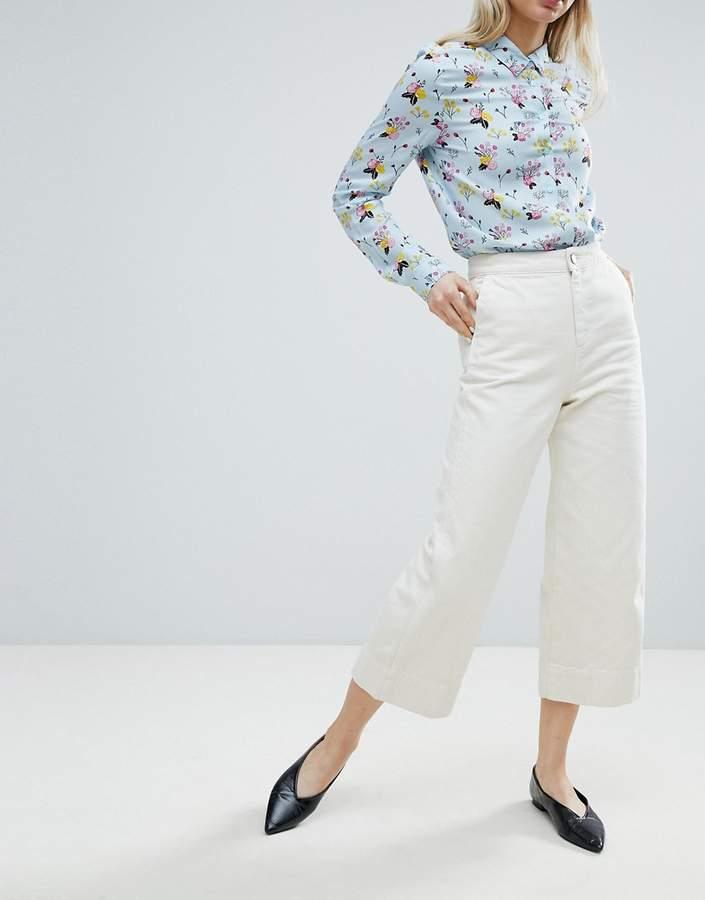 – Weit geschnittener Jeans-Hosenrock