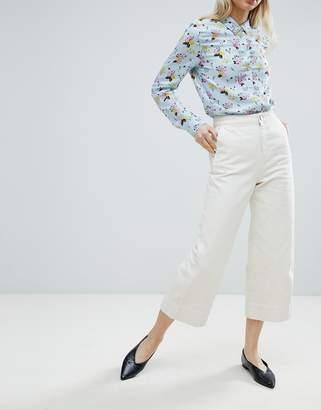 Monki Wide Leg Culotte Jeans