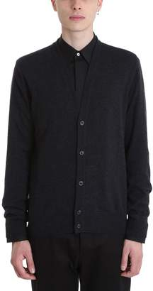 Maison Margiela Cardigan In Nero Wool
