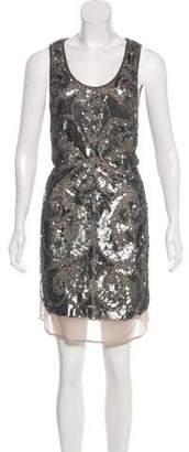 Gold Hawk Mini Sequin Dress w/ Tags