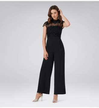Ever New Leona Petite Lace Wide Leg Jumpsuit