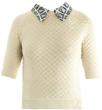 Carven Stamp-print collar sweater