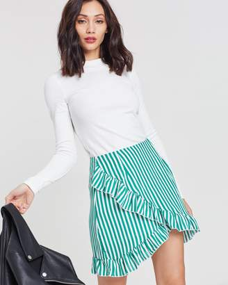 Missguided Frill Detail Mini Skirt