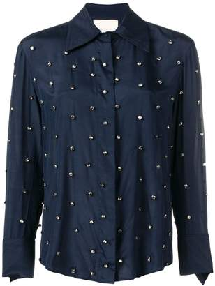 Cavallini Erika embellished fitted blouse
