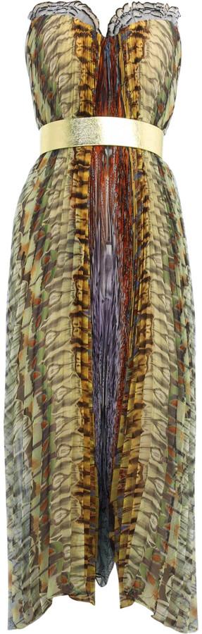 Alexander McQueen Chiffon strapless dress