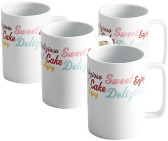 Cake Boss Set Of 4 Icing And Quotes Serveware Mugs