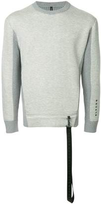 Blackbarrett contrasting panel sweatshirt