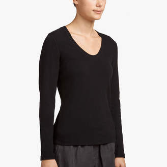 James Perse SUEDED JERSEY SCOOP NECK TEE