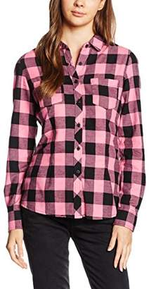 Urban Classics Women's Ladies Turnup Checked Flanell Shirt,(Manufacturer's Size: XL)