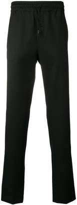 Versus tonal embroidered logo trousers