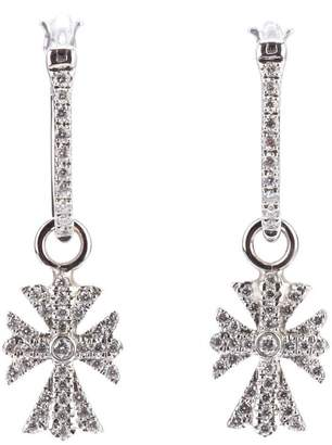 Elise Dray diamond cross earrings