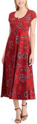 Chaps Women's Print Midi Dress