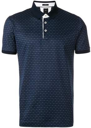 HUGO BOSS woven dot polo shirt