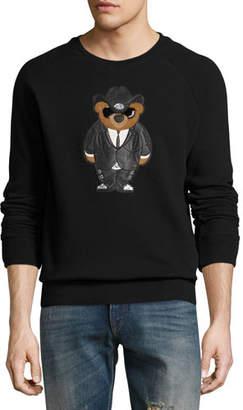 Ralph Lauren Cowboy Bear Jersey Sweatshirt, Black $795 thestylecure.com