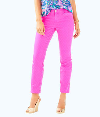 "Lilly Pulitzer Womens 29"" Kelly Textured Ankle Length Skinny Pant"