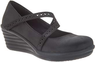 Skechers Laser-Cut Mary Jane Wedges - Wave