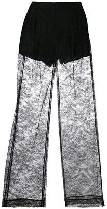 Givenchy lace flared trousers