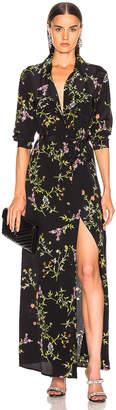 L'Agence Cameron Long Shirt Dress in Black Bloom Multi | FWRD