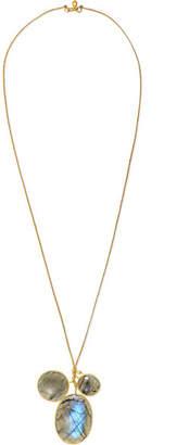 Pippa Small 18-karat Gold Labradorite Necklace
