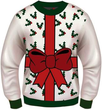 Forum Novelties Adult Extra Large All Wrapped Up White Ugly Christmas Sweater