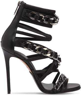 Balmain 110mm Diva Chained Leather Sandals