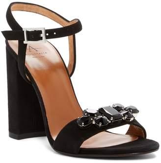 Aquatalia Simone Suede Block Heel Sandal