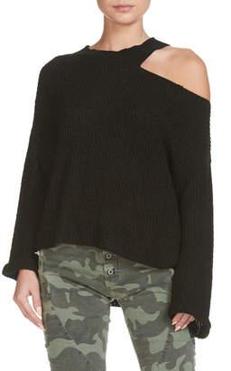 Elan International Black Knit One Shoulder