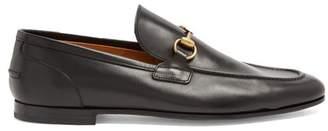Gucci Jordaan Leather Loafers - Mens - Black