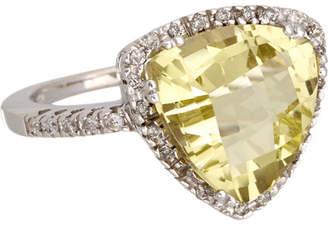 Effy Fine Jewelry 14K 5.20 Ct. Tw. Diamond & Quartz Ring