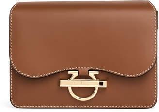 Salvatore Ferragamo Joanne tan leather shoulder bag