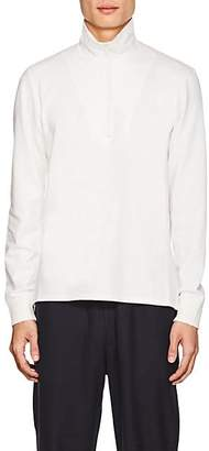 Barena Venezia Men's Cotton French-Terry Mock-Turtleneck Sweater - White