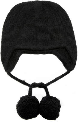 The Elder Statesman M'O Exclusive Handspun Ear Flap Cap