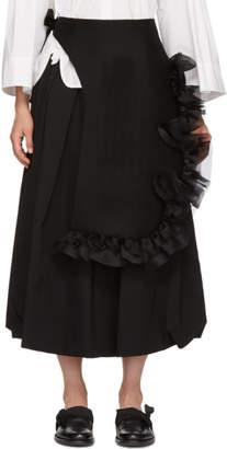 Roberts | Wood Black Ruffled Asymmetric Skirt
