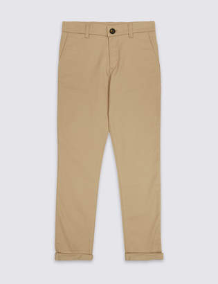 Marks and Spencer PLUS Cotton Chinos with Stretch (3-16 Years)