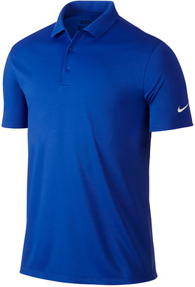 Nike Men's Victory Solid Stretch Dri-FIT Golf Polo $55 thestylecure.com