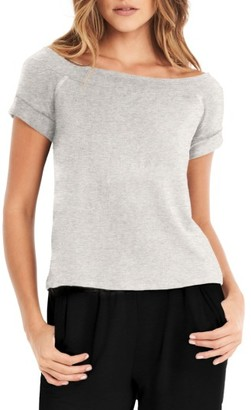 Women's Michael Stars Off The Shoulder Sweatshirt $72 thestylecure.com
