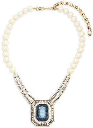 Heidi Daus Faux Pearls And Crystals Statement Necklace