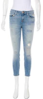 J Brand Mid-Rise Embroidered Jeans
