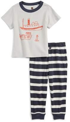 Tea Collection Plockton Graphic T-Shirt & Pants Set (Baby Boys & Toddler)