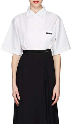 Prada Women's Logo Cotton Poplin Shirt