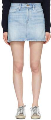 Frame Blue Le Mini Denim Miniskirt