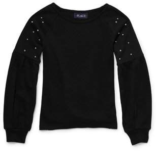 Children's Place The Pearl Balloon Sleeve Sweater Knit Top