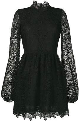 Giamba floral lace mini dress