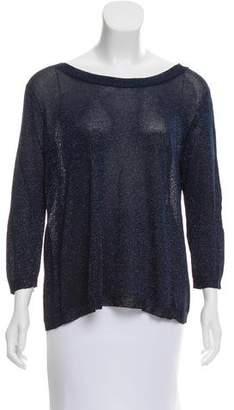 Aiko Lurex Open Back Sweater