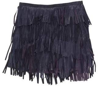 Gryphon Fringe Mini Skirt