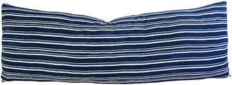 One Kings Lane Vintage XL Blue & White Stripe Body Pillow