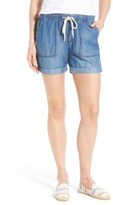 Women's Mavi Jeans 'Laila' Soft Brushed Denim Shorts $88 thestylecure.com
